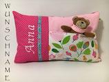 Geburtskissen/Namenskissen - rosa/pink -WUNSCHNAME