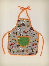 Kinderschürze (ca.für 1,5- bis 4-Jährige) - Auto&Co. grau