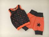 Set Shirt & Shorts Sterne grau/coralle Gr 74/80