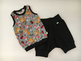 Set Shirt & Shorts Füchse grau Gr. 86/92