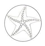 Dessous de verre étoile de mer (modèle 10)