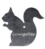 Ardoise écureuil 14 cm x 14 cm potager gravée du nom de votre souhait