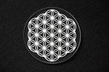 Dessous de verre fleur de vie PMMA de 3 mm transparent