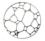 Dessous de verre bulles savon  (modèle 7)