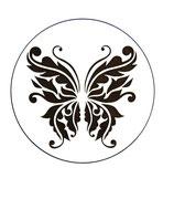 Dessous de verre papillon (modèle 16)