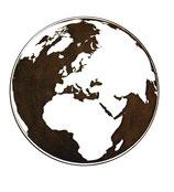 Dessous de verre terre (modèle 26)
