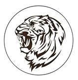 Dessous de verre tigre (modèle 18 )