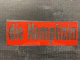 Plot 'die Komplizin' in rot • negativ