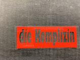 Plot 'die Komplizin' in rot • klein • negativ