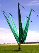 Balifahne 5 Meter Grün