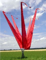 Balifahne 3 Meter Rot