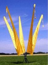 Balifahne 3 Meter Goldgelb