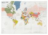 Weltkarte faltbar