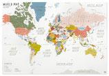 Weltkarte beige
