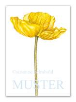 Kunstkarte Papaver gelb Artikelnr. sb102
