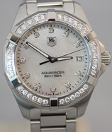 TAG Heuer Aquaracer Lady Quarz 32 Mother of Pearl Dial Full Diamond