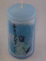 """Zylinder Klein Hellblau """"Miss Liberty 1"""""""