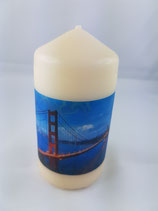 "Zylinder Klein Creme ""Golden Gate Bridge"""