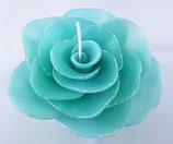 Rosenblüte mit Glitzer Türkis Gross