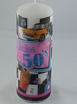 """Zylinder Mittel Hoch Weiss """"Fabulous 50`s"""""""