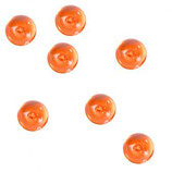 Kunststoff Nuggets Orange Transparent