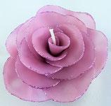 Rosenblüte mit Glitzer Lila