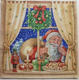 Weihnachtsmann am Fenster