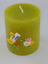 """Zylinder Klein Grün """"Ente mit Blumen"""""""