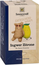 Ingwer Zitrone - Gewürz Kräutermischung Sonnentor Tee