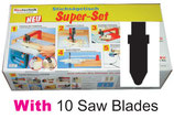 A01-1 Super-Set with 10 Saw Blades T-shaft like BOSCH, METABO, MAKITA......