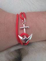 B. bracelet ancre rouge
