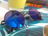 Lunettes Miroirs ronde bleu noir
