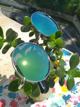 Lunettes Miroirs ronde vert