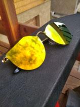 Lunettes Miroirs jaune cuivre