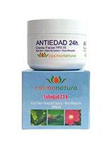 Crema Antiedad 24H Baba Caracol + Aloe + Rosa Mosqueta FPS 15 MACULART 100 ml.