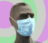 Mascarilla 3 capas alto riesgo con gomas