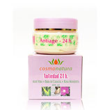 Crema Facial 24H (Aloe + Rosa Mosqueta + Baba de Caracol) 120 ml.