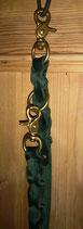 Lederleine grün 19 mm Messing (Nr. 1)