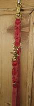 Lederleine rot 19 mm Messing (Nr.11)