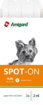 Amigard Spot-on für kleine Hunde bis max. 15 kg