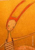 Nina coniglietta-cartolina
