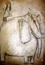 Il cammino sull'elefante-cartolina