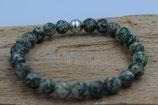 grüner Fleck Jaspis Stein Armband