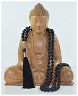Lava Buddha 6 mm Mala W