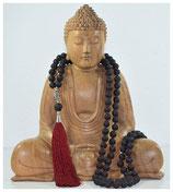 Lava Buddha Dunkel Rot 8mm Mala
