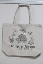 ユニークグリーンのロゴ(亀の絵) トートバッグ