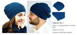 Mütze aus Alpaka Wolle Querrippe