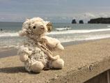 Peluche mouton avec écharpe Pays Basque