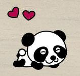 Panda Herz pink