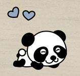 Panda Herz blau